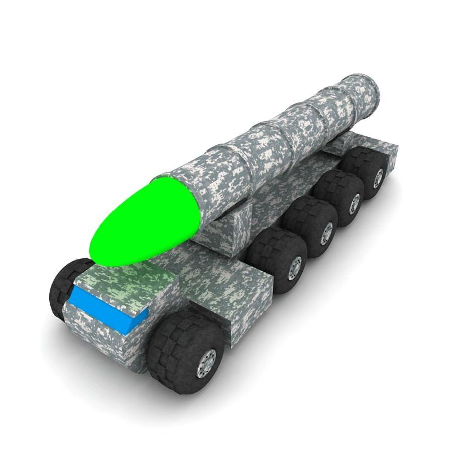 Balistik roketatar ahşap oyuncak royalty-free 3d model - Preview no. 6