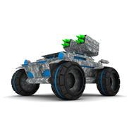 Mobile rocket launcher wooden toy 3d model