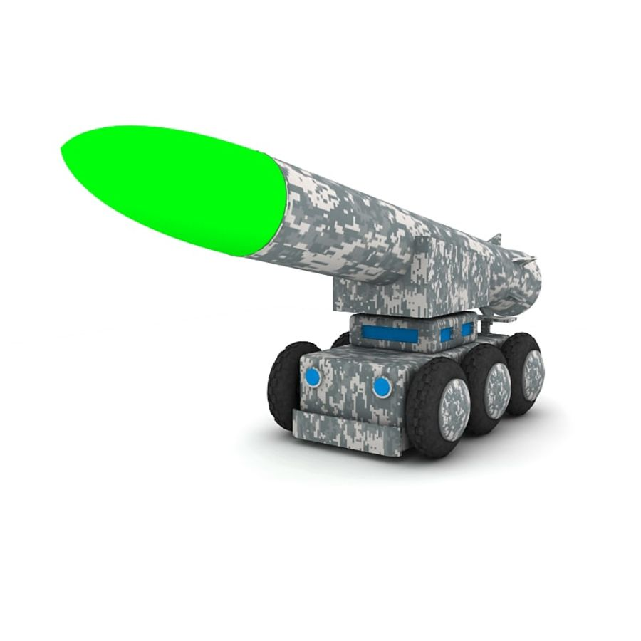 Tek roketatar ahşap oyuncak royalty-free 3d model - Preview no. 5