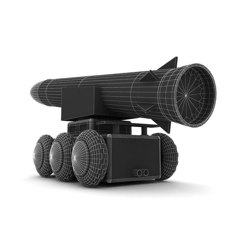 Tek roketatar ahşap oyuncak royalty-free 3d model - Preview no. 8