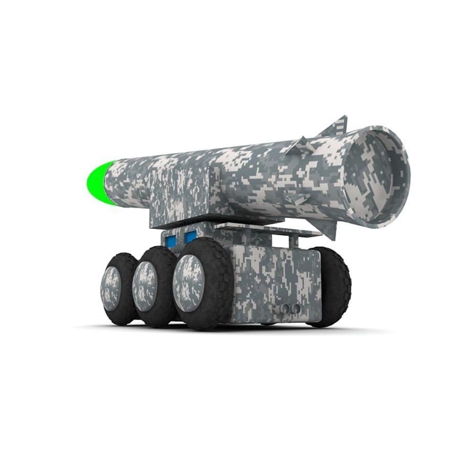 Tek roketatar ahşap oyuncak royalty-free 3d model - Preview no. 4