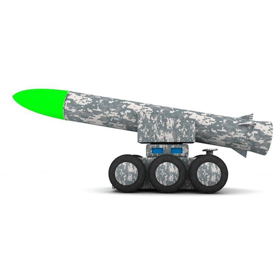 Tek roketatar ahşap oyuncak royalty-free 3d model - Preview no. 1