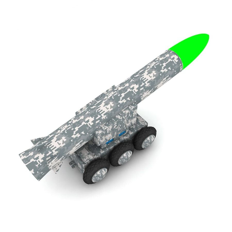 Tek roketatar ahşap oyuncak royalty-free 3d model - Preview no. 6