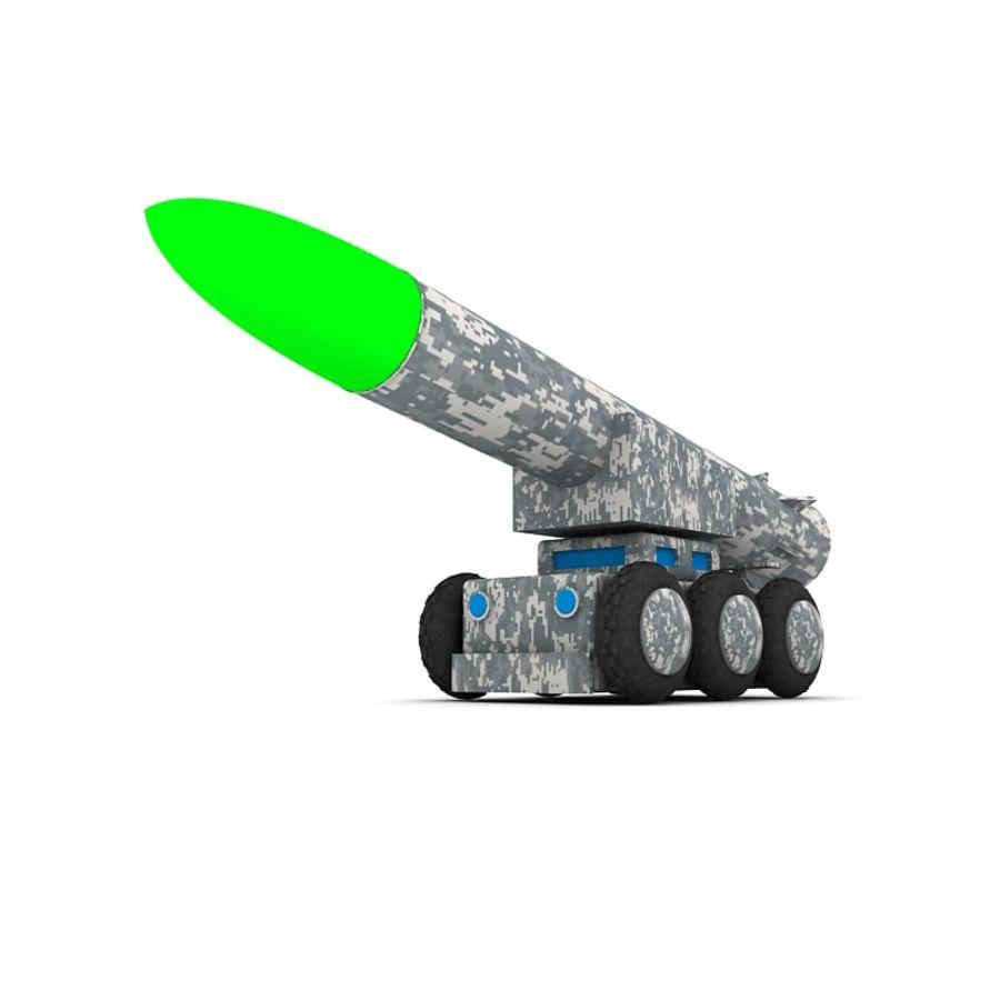 Tek roketatar ahşap oyuncak royalty-free 3d model - Preview no. 2