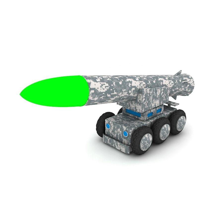 Tek roketatar ahşap oyuncak royalty-free 3d model - Preview no. 3