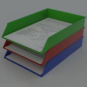Paper tray document organizer 3d model