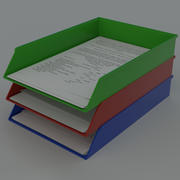 Paper tray document organizer 3d model
