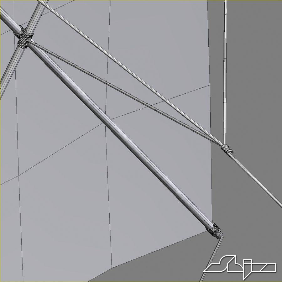 Kite 2 Rectangle royalty-free 3d model - Preview no. 8