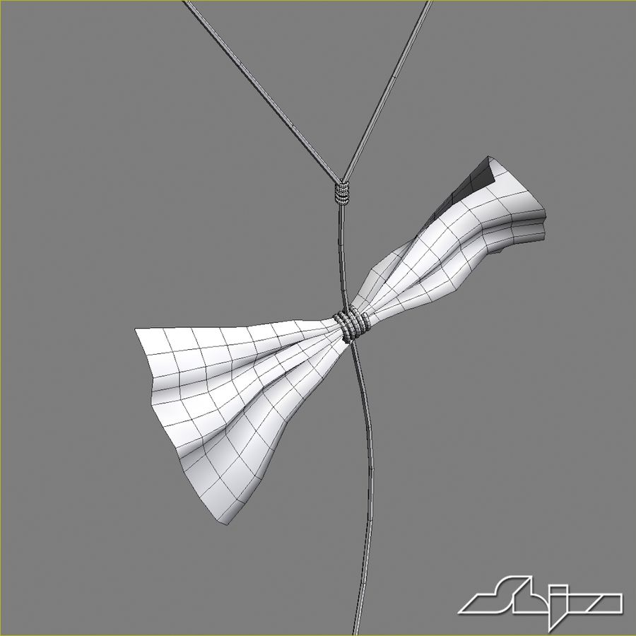 Kite 2 Rectangle royalty-free 3d model - Preview no. 9