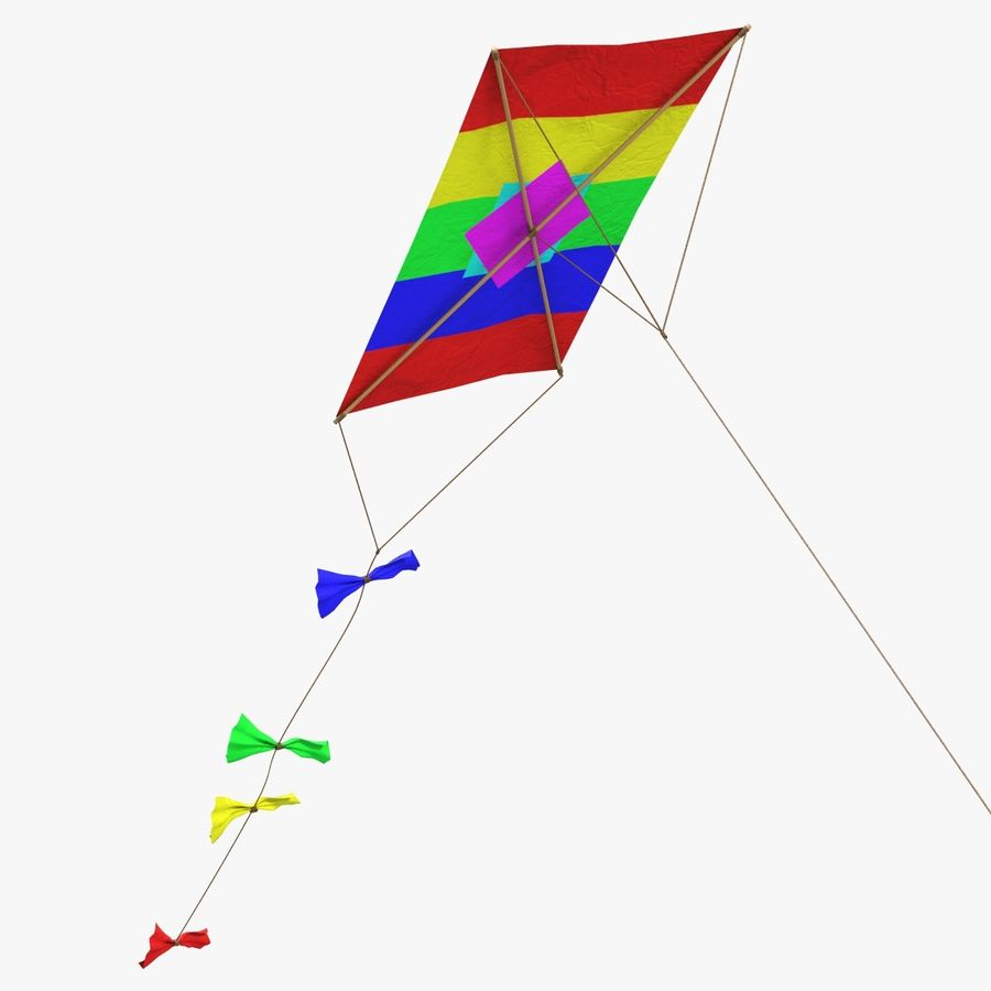 Kite 2 Rectangle royalty-free 3d model - Preview no. 1