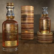 The balvenie 50 years old Scotch Whisky and box 3d model