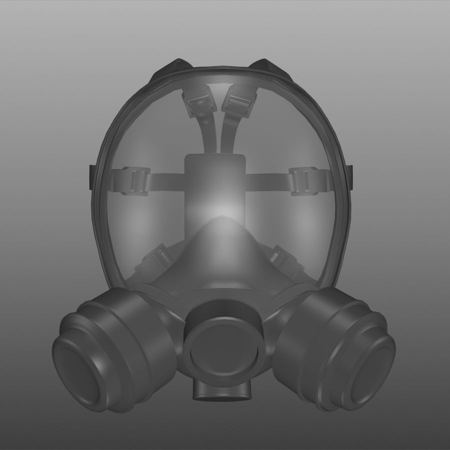 maschera antigas royalty-free 3d model - Preview no. 2