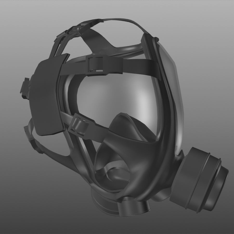 maschera antigas royalty-free 3d model - Preview no. 3