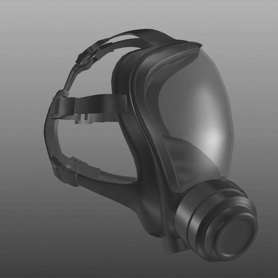 maschera antigas royalty-free 3d model - Preview no. 5