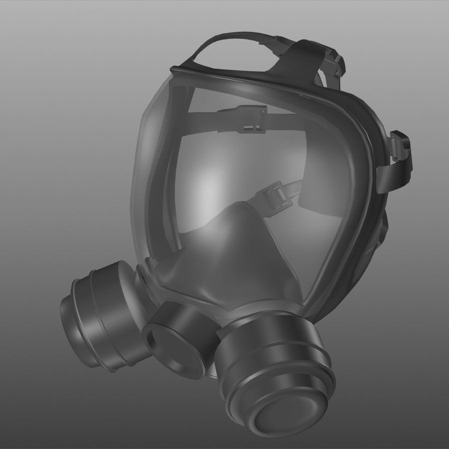 maschera antigas royalty-free 3d model - Preview no. 1