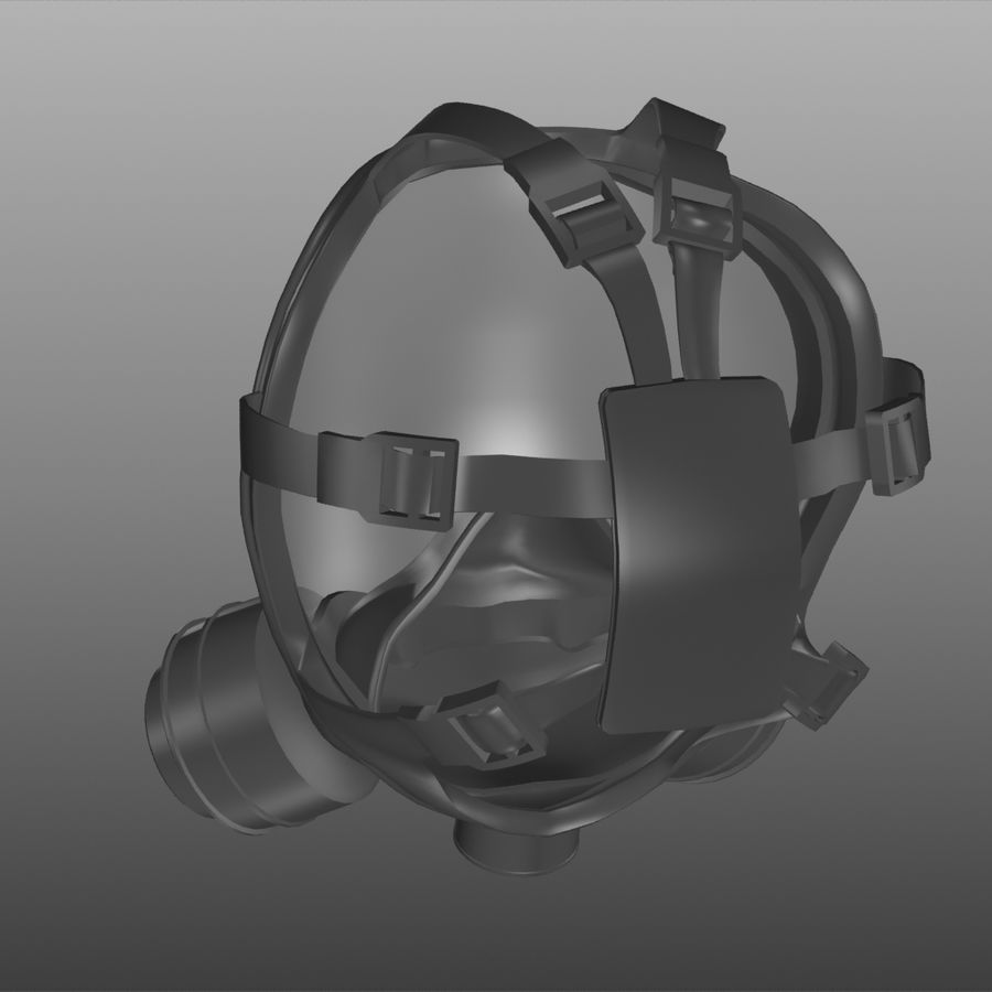 maschera antigas royalty-free 3d model - Preview no. 4