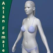 Femme asiatique 3d model