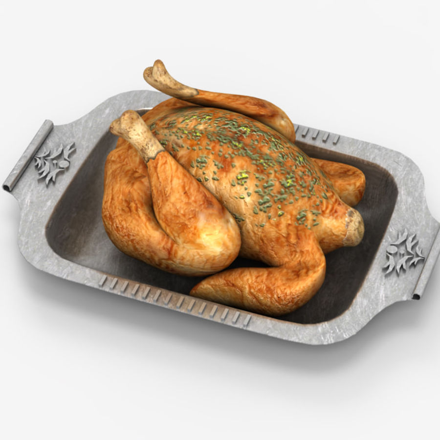 Chicken fry royalty-free 3d model - Preview no. 4