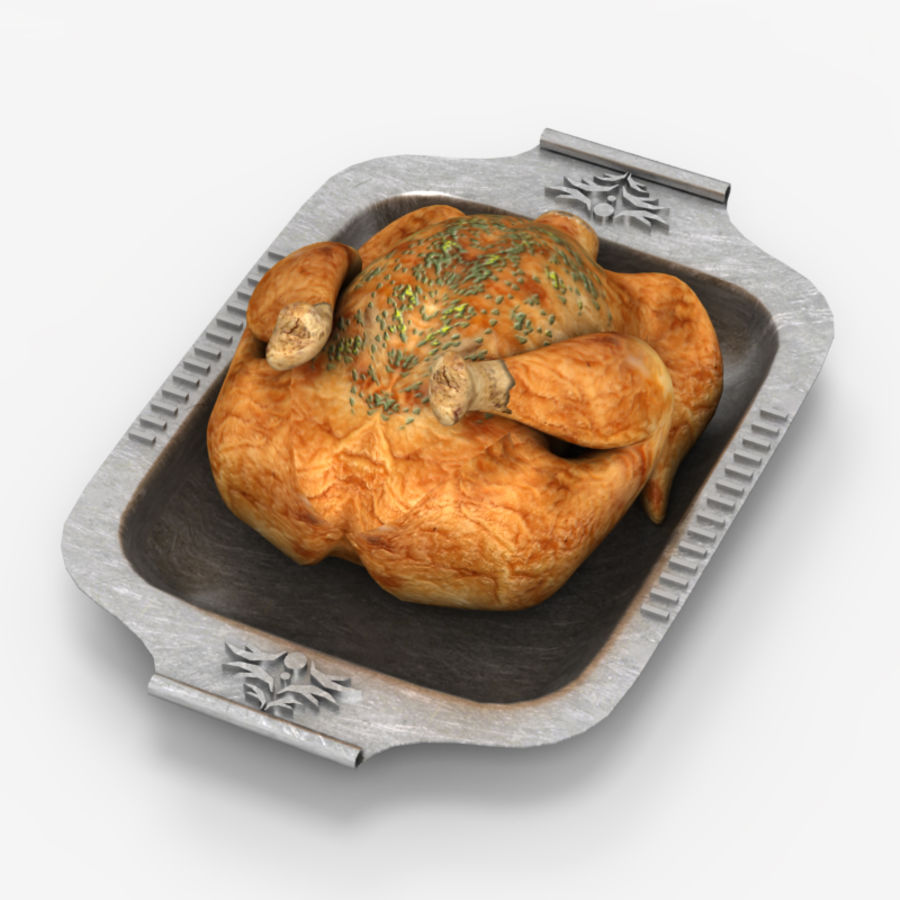 Chicken fry royalty-free 3d model - Preview no. 5