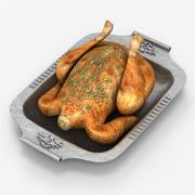 Pollo fritto 3d model