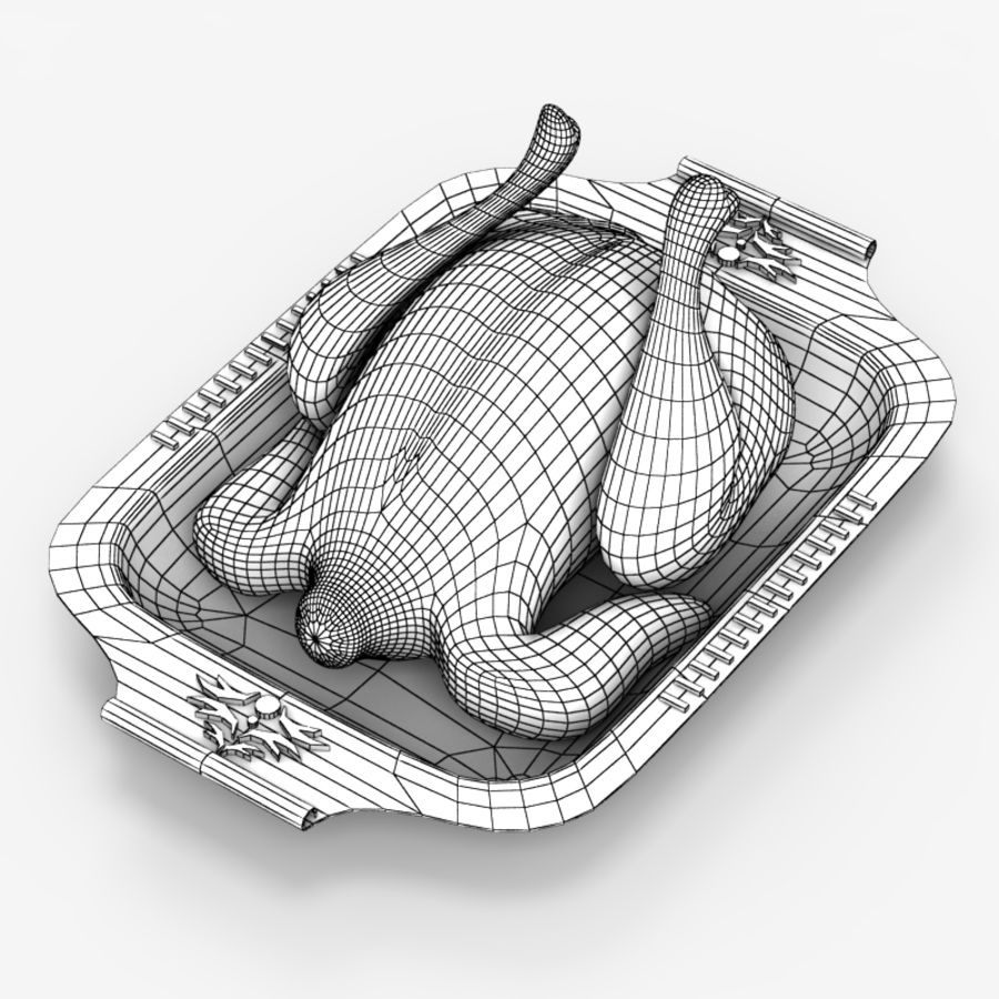 Chicken fry royalty-free 3d model - Preview no. 6