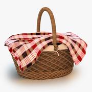 野餐篮子 3d model