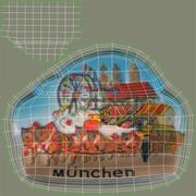 Munich Germany Magnet Souvenir 3d model