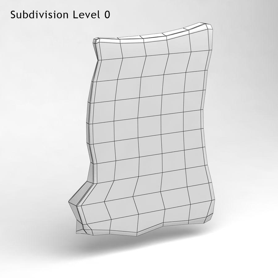 巴黎磁铁纪念品3 royalty-free 3d model - Preview no. 8