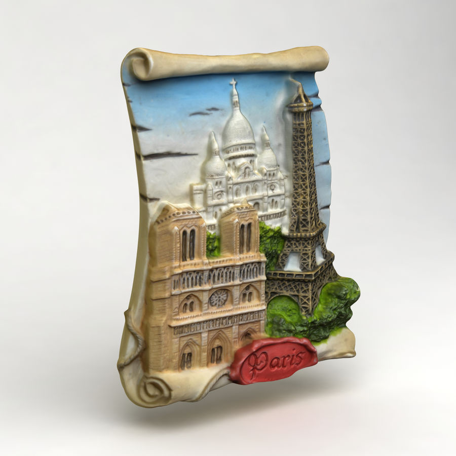 Paris Magnet Souvenir 3 royalty-free 3d model - Preview no. 3