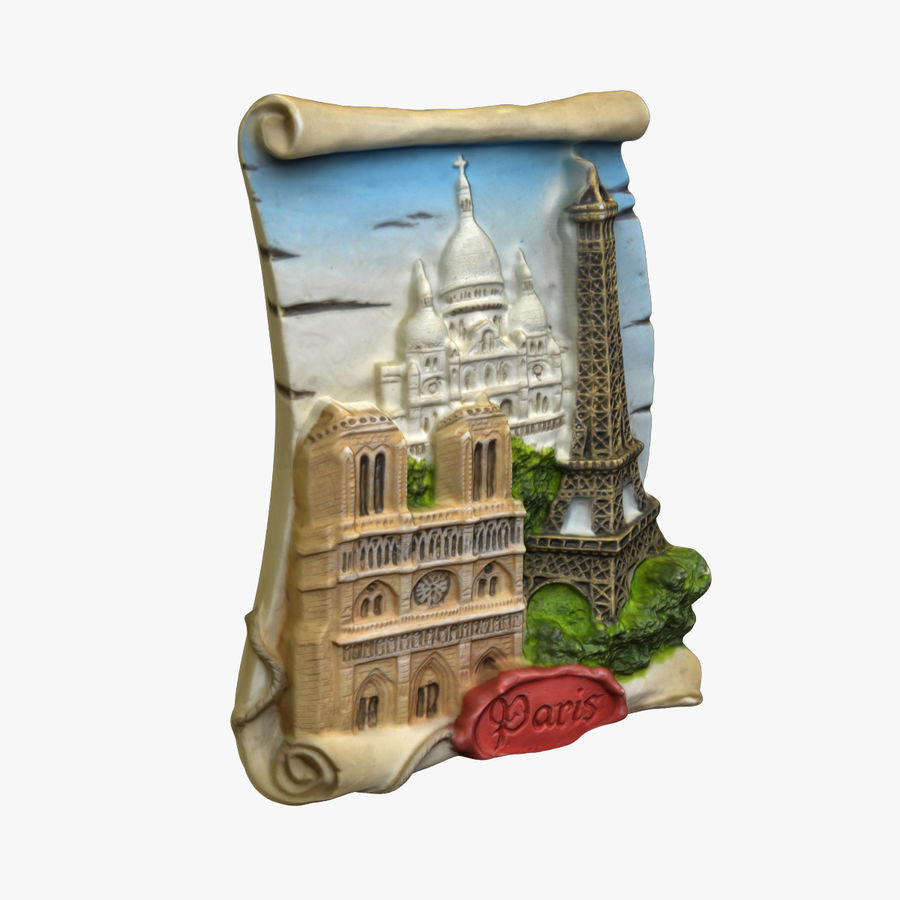 Paris Magnet Souvenir 3 royalty-free 3d model - Preview no. 1