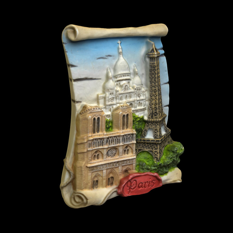 Paris Magnet Souvenir 3 royalty-free 3d model - Preview no. 2