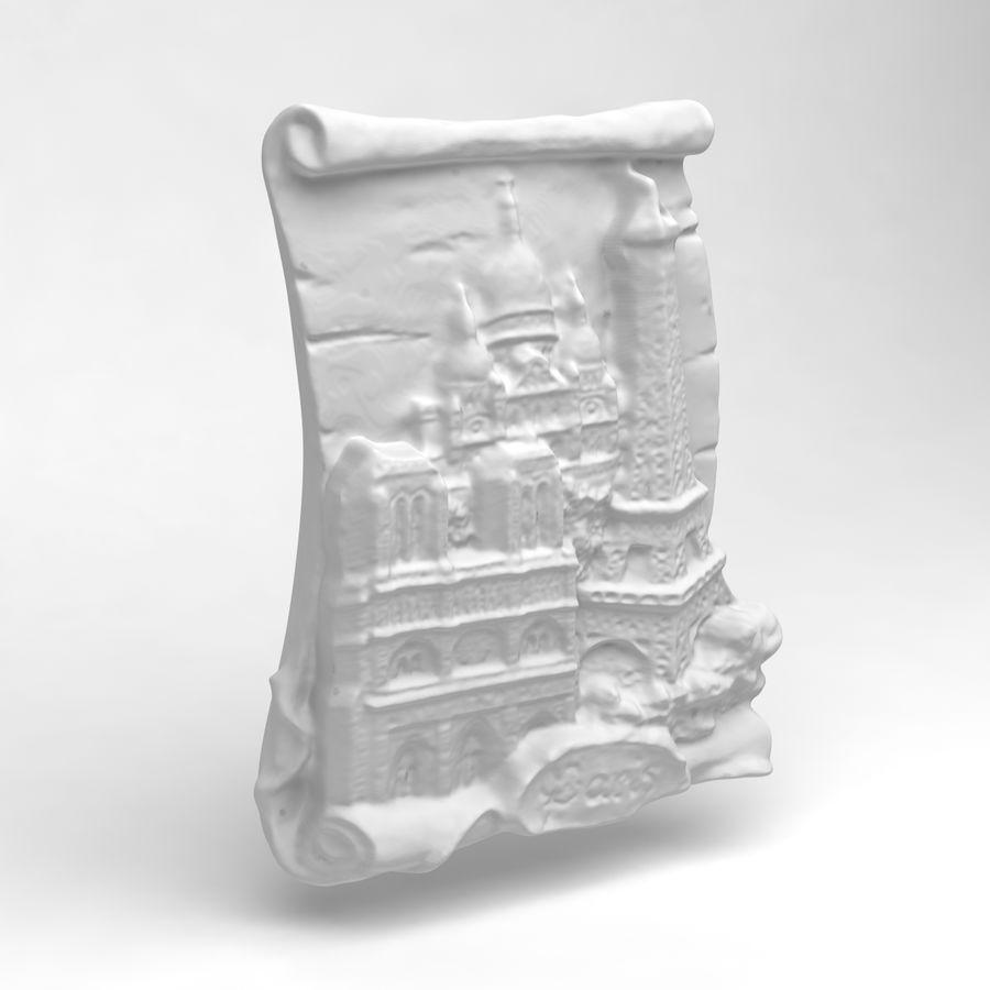 巴黎磁铁纪念品3 royalty-free 3d model - Preview no. 4