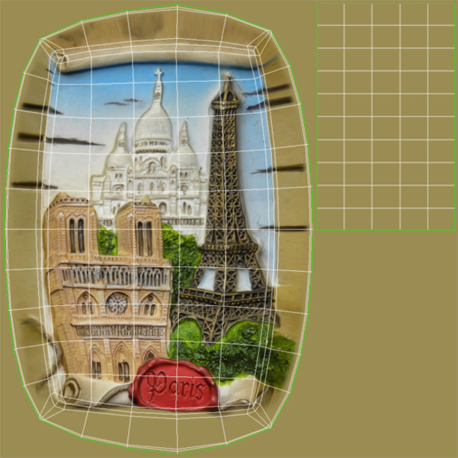 Paris Magnet Souvenir 3 royalty-free 3d model - Preview no. 10