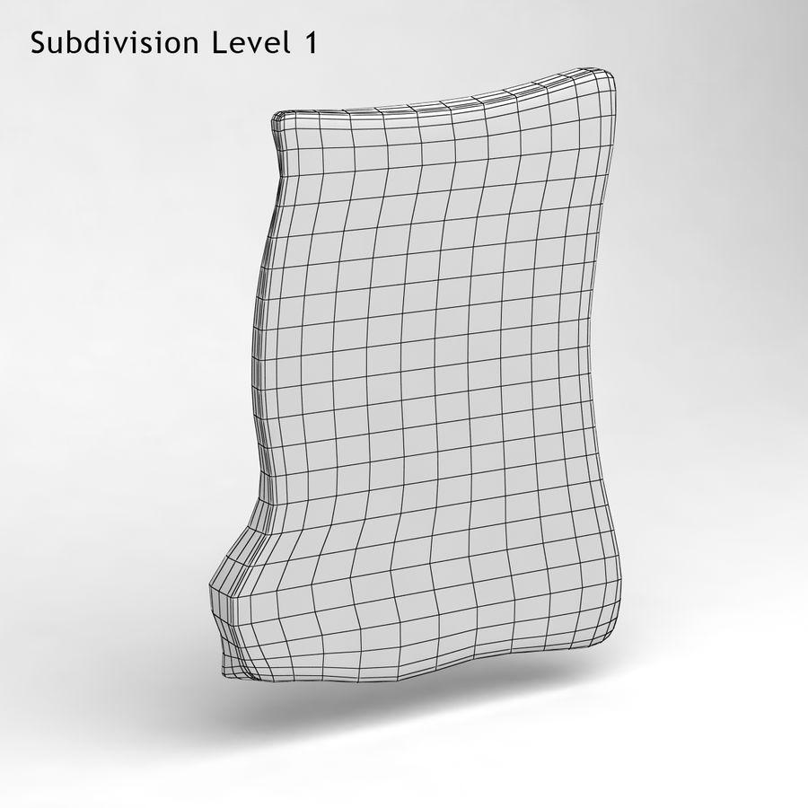 巴黎磁铁纪念品3 royalty-free 3d model - Preview no. 9