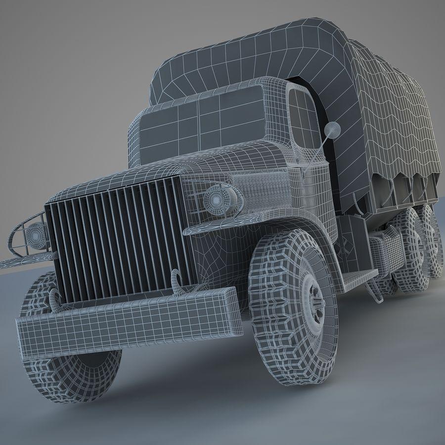 Camión de transporte militar GAI-353 royalty-free modelo 3d - Preview no. 13