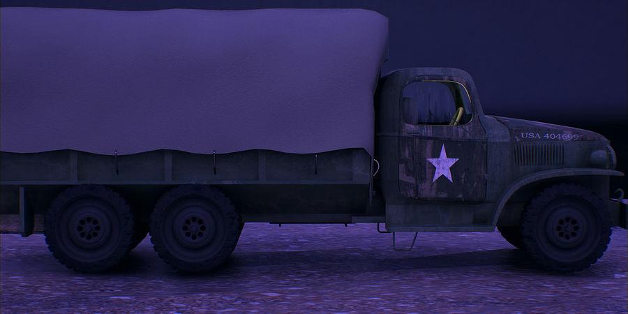 Camión de transporte militar GAI-353 royalty-free modelo 3d - Preview no. 4