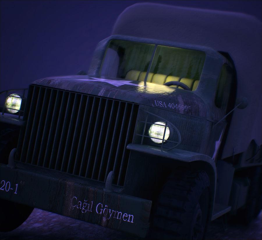 Camión de transporte militar GAI-353 royalty-free modelo 3d - Preview no. 2