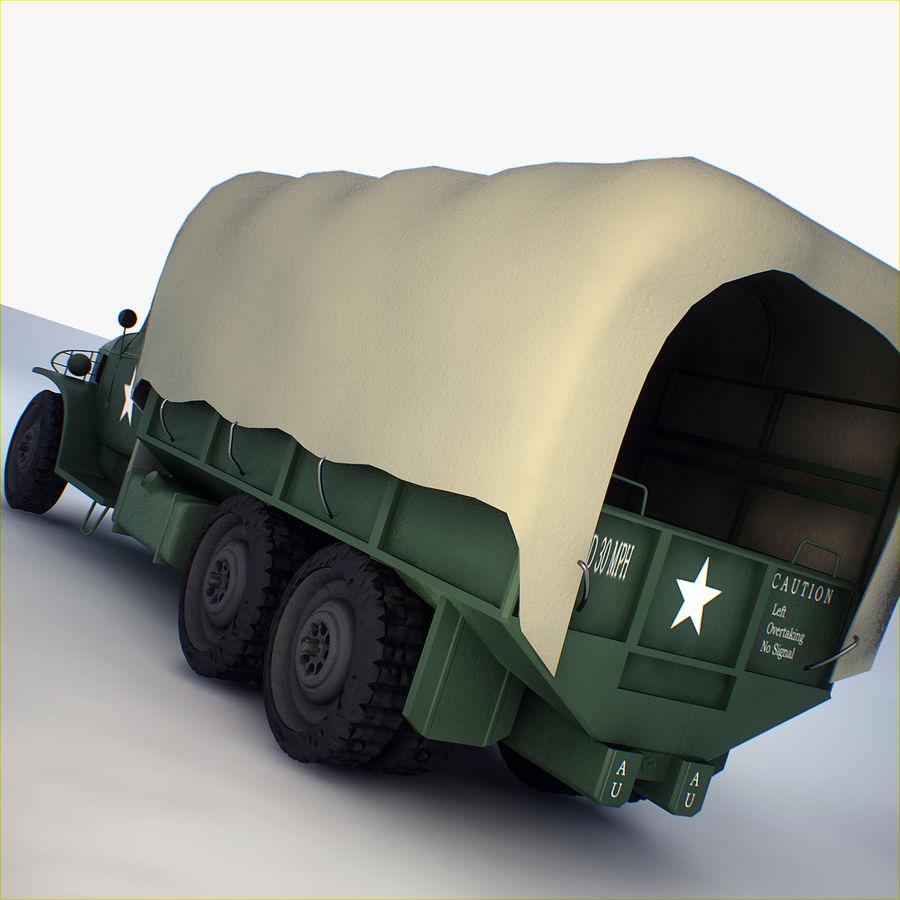 Camión de transporte militar GAI-353 royalty-free modelo 3d - Preview no. 10