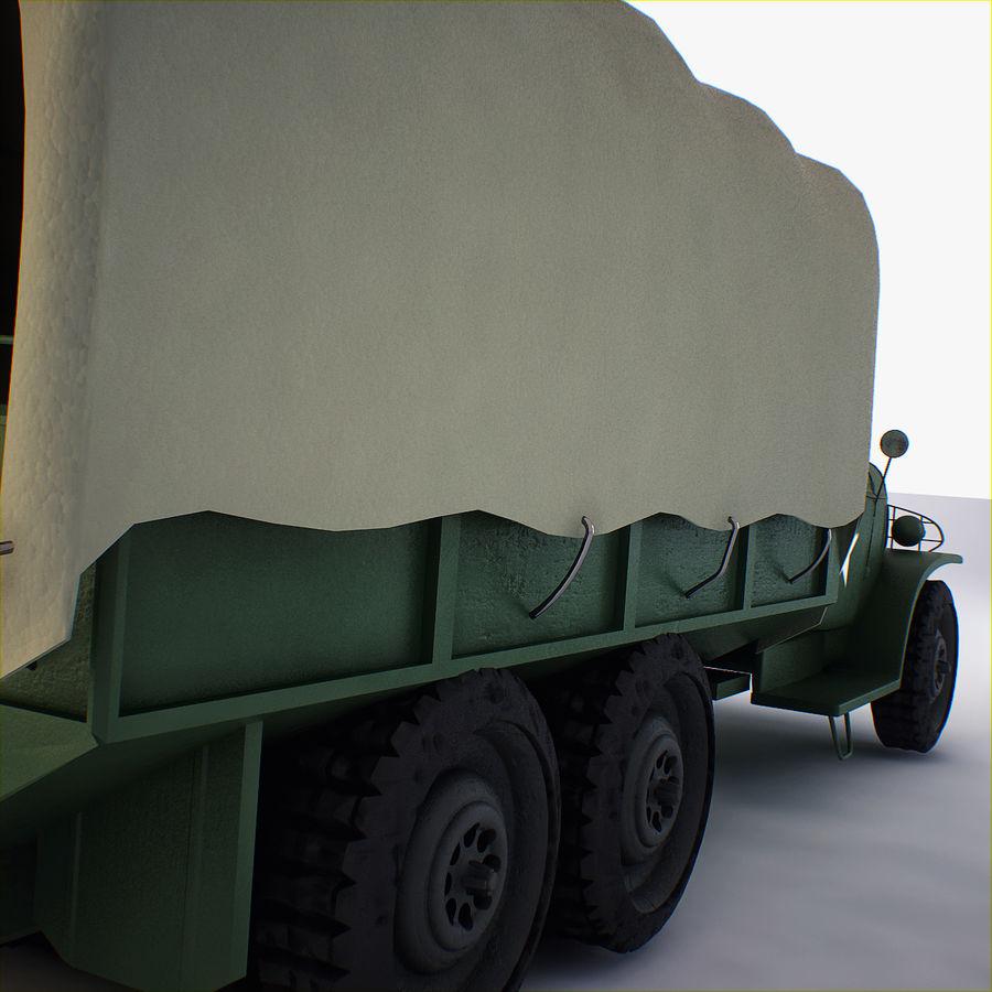 Camión de transporte militar GAI-353 royalty-free modelo 3d - Preview no. 8