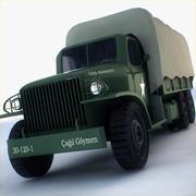 Camión de transporte militar GAI-353 modelo 3d