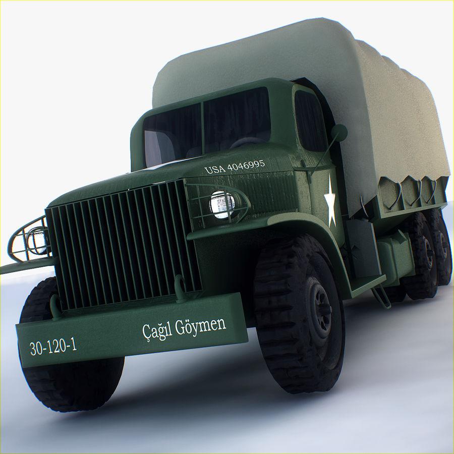 Camión de transporte militar GAI-353 royalty-free modelo 3d - Preview no. 1