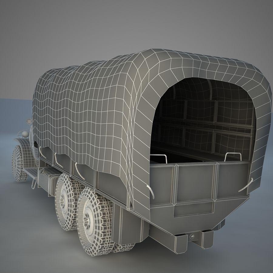 Camión de transporte militar GAI-353 royalty-free modelo 3d - Preview no. 12