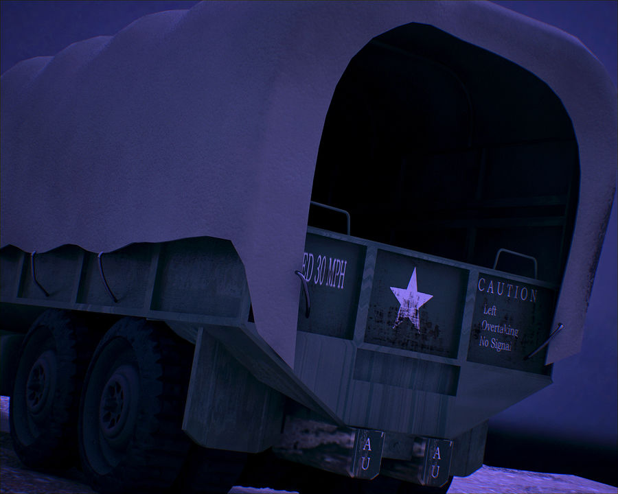 Camión de transporte militar GAI-353 royalty-free modelo 3d - Preview no. 5