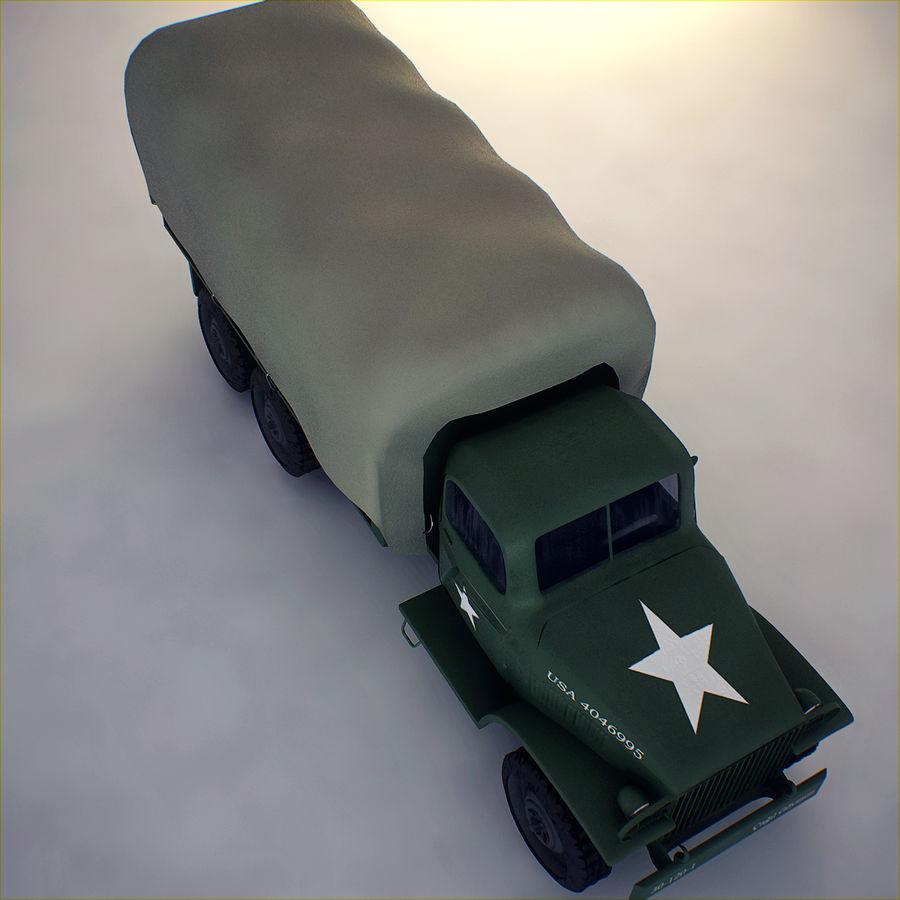 Camión de transporte militar GAI-353 royalty-free modelo 3d - Preview no. 7