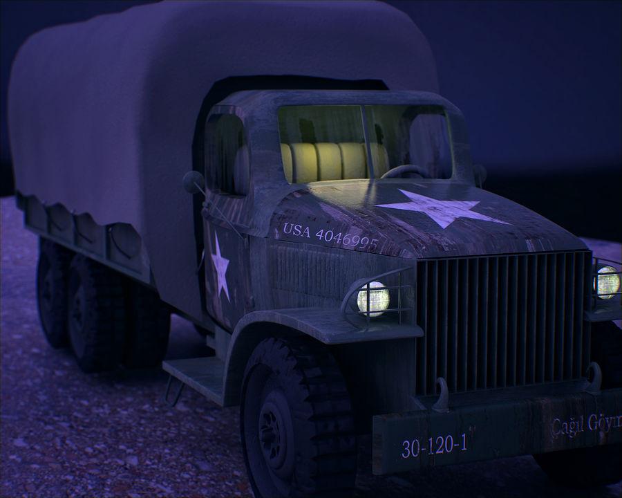 Camión de transporte militar GAI-353 royalty-free modelo 3d - Preview no. 3
