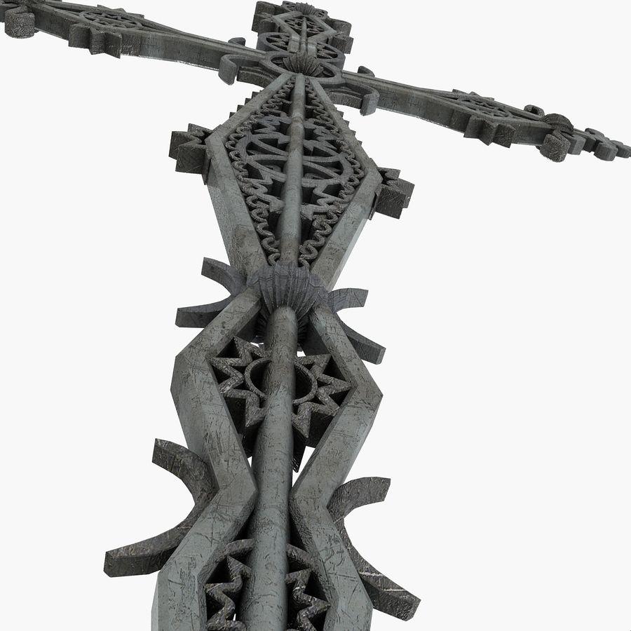 Kirchen-Metallkreuz-Dekor-Statue Art Style Stylish Fancy ornamental relief Symbol royalty-free 3d model - Preview no. 8