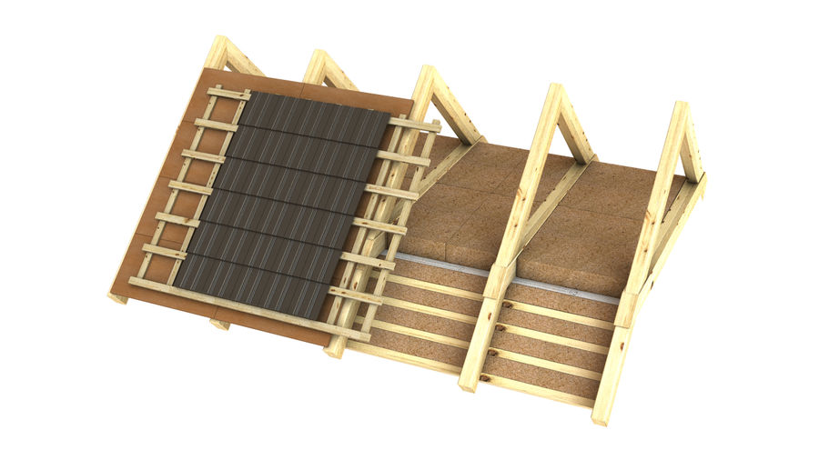 Wooden Roof Construction Detail 3d Model 29 Unknown Ma Obj