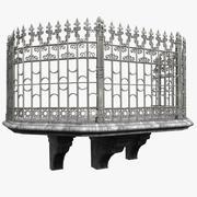 Замок Камень Древний Балкон 3d model