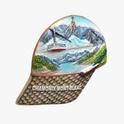 Chamonix Mont-Blanc magnet Souvenir 3d model