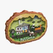 保加利亚磁铁纪念品 3d model